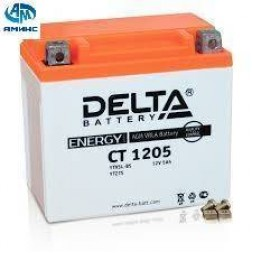 Мото аккумулятор Delta CT 1205 (YTX5L, YT5L, YTZ7S)(12V/5Ah)