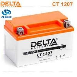 Мото Аккумулятор Delta CT1207 12V 7а/ч (YTX7A-BS)