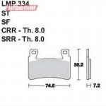 Колодки тормозные AP-LMP334 SF...